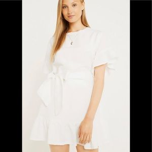 Urban Outfitters White Linen Dress